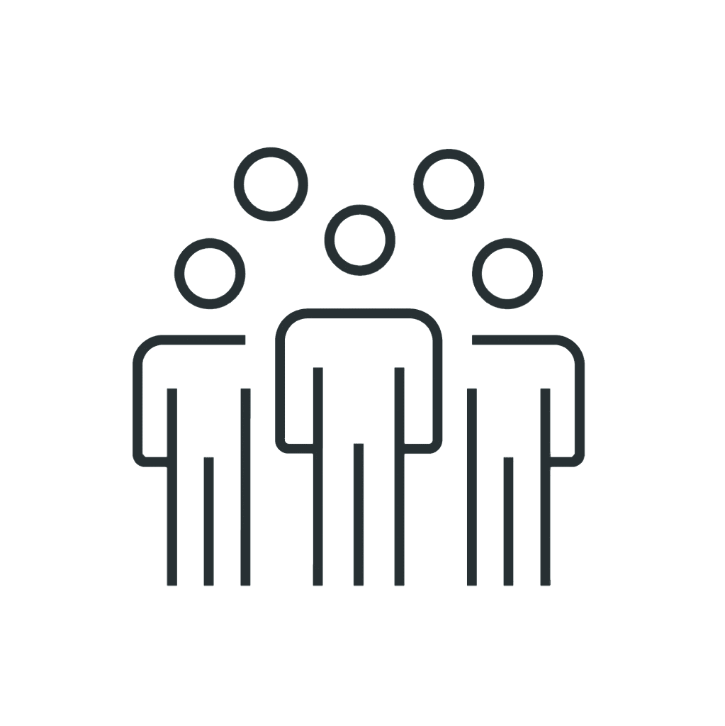 Unite Networx works with Simple outline of a group of people